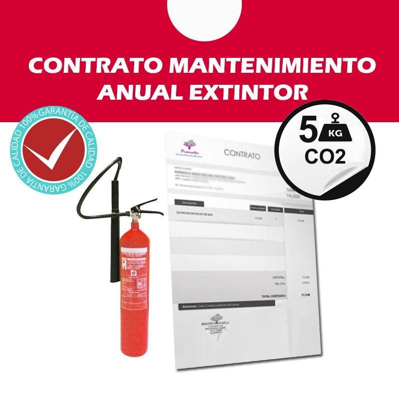 Contrato de Mantenimiento anual Extintor 5 Kg CO2