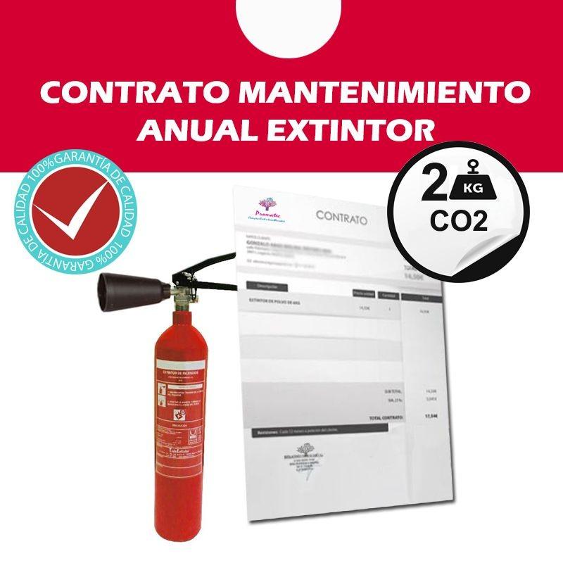 Contrato de mantenimiento Extintor CO2 2 kg