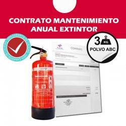 Contrato mantenimiento anual extintor 3 kg polvo abc