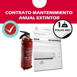 Contrato Mantenimiento Extintor 1 kg ABC anual