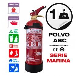 Extintor 1 kg abc homologado para barcos