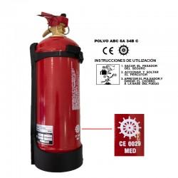 Extintor 1 kg abc serie marina
