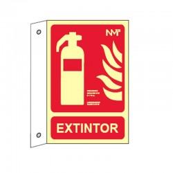 Banderola Extintor de pared