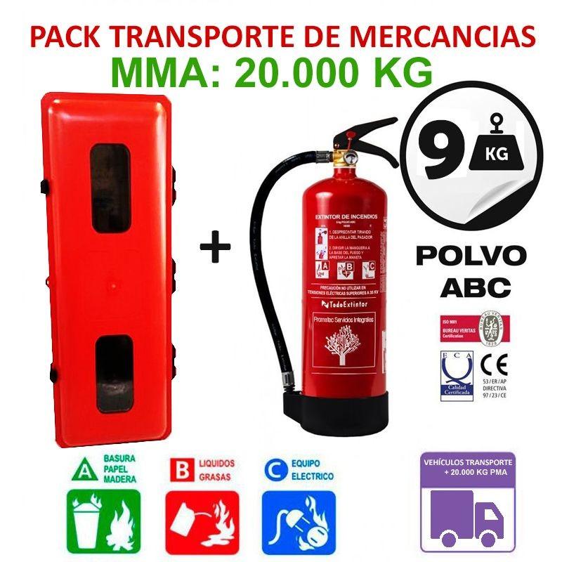 Pack extintor y armario para transportes hasta 20000 Kilogramos