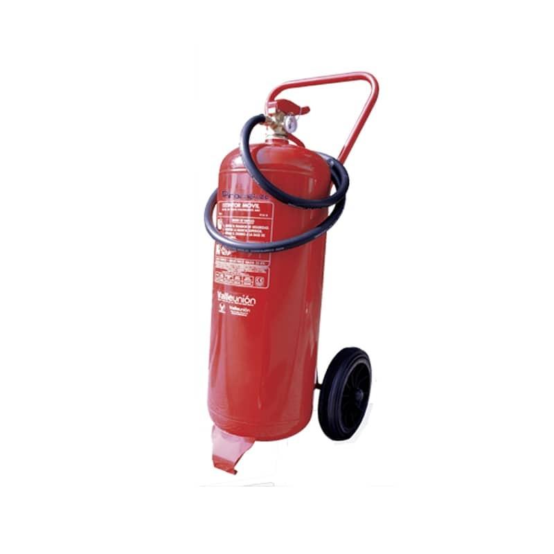 Extintor móvil 25 kg abc de carro con ruedas