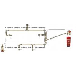 Sistema de extinción de incendios en campanas extractoras murales 200 cm