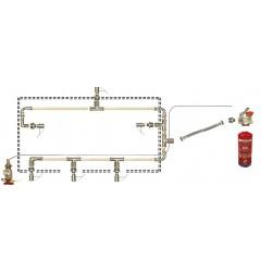 Sistema automático de extinción de incendios en cocinas